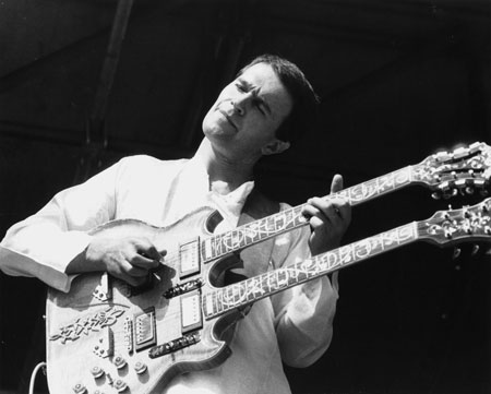 John McLaughlin (born 4 January 1942 in Doncaster, West Riding of Yorkshire, England), also known as Mahavishnu John McLaughlin, is an English guitarist, bandleader and composer. His music includes many genres of jazz which he coupled with elements of rock, Indian classical music, Western classical music, flamenco and blues to become one of the pioneering figures in fusion.