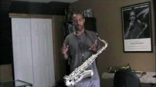OVERTONES Tenor Sax Lesson with Frank Fontaine