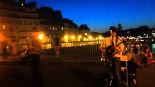 "Jason Kingsley Duo ""Lady is a tramp"" @ Pont Saint-Louis (Paris)"