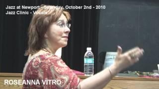 Jazz at Newport (OR) 2010 - Vocal Jazz Clinic with Roseanna Vitro