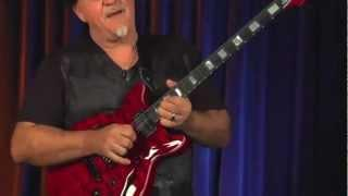 Guitar Solo Guru Frank Gambale plays his new Signature Carvin FG1