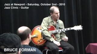 Jazz at Newport (OR) 2010 - Guitar Jazz Clinic with Bruce Foreman