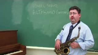 Saxophone Techniques : Playing High Notes on the Saxophone
