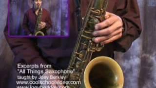 Saxophone Lesson-Speed and Accuracy