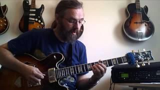 Jens Larsen with  Coffee Break Grooves Guitar Lesson