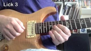 Blues Guitar Lesson Roy Fulton | Coffee Break Grooves A 81 bpm